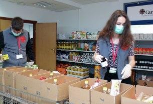 caritas zagrebačke nadbiskupije - priprema paketa pomoći - 2020