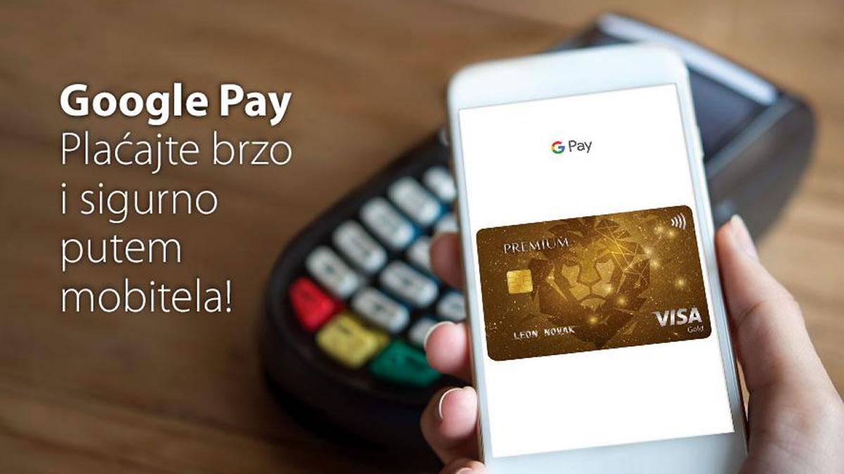 Google pay - PBZ card - Premium Visa - 2020