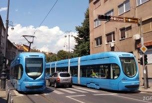 ulica ribnjak, zagreb - tramvaj linije 14 - kolovoz 2015.