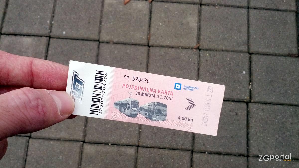 tramvajska karta - zet zagreb - veljača 2017.