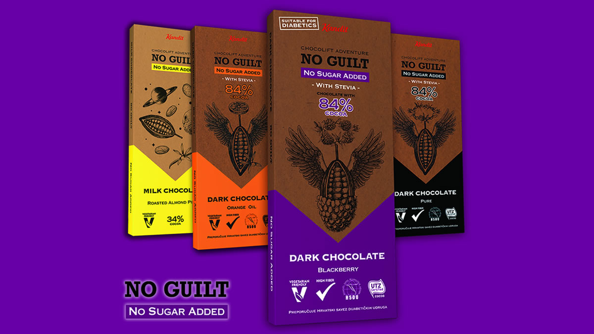 kandit no guilt - no sugar chocolate - 2020