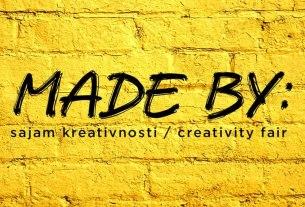 "sajam kreativnosti ""made by"" zagreb 2020"