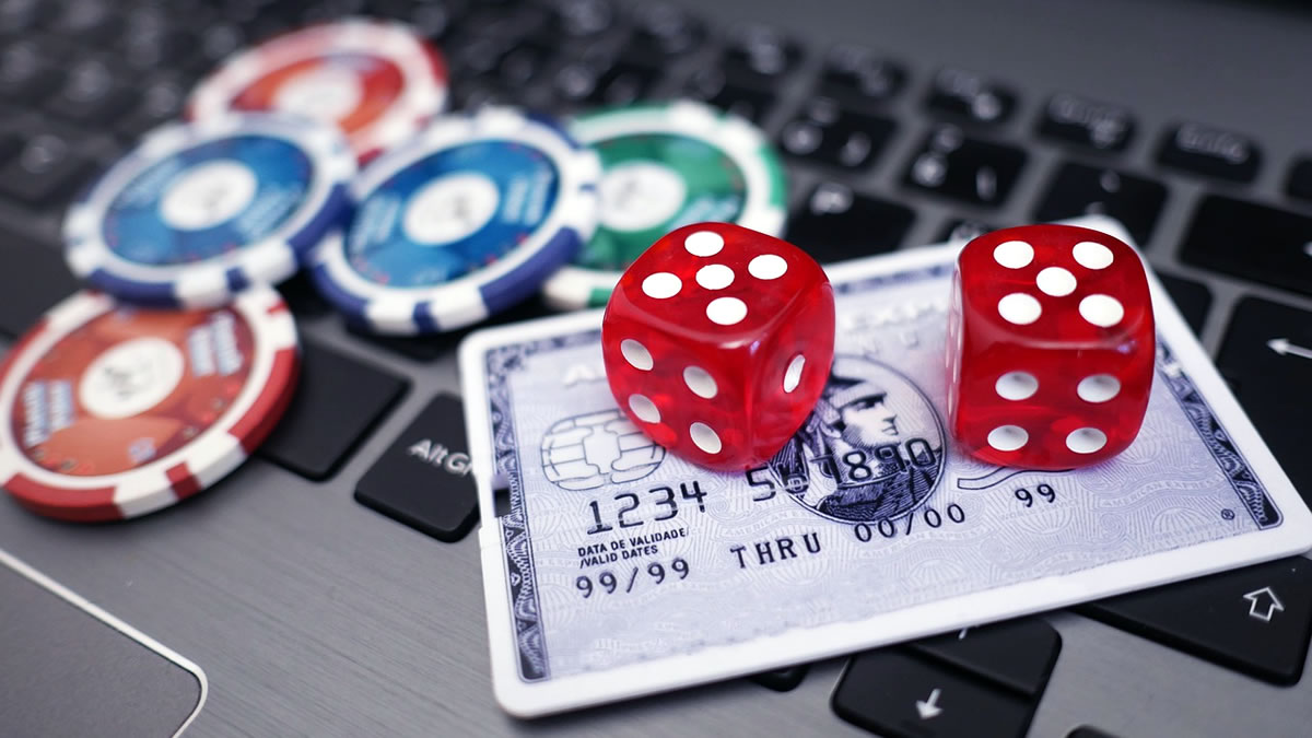 online casino - chips, dice and credit card - 2020
