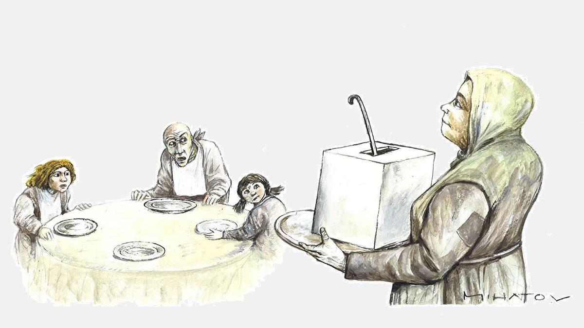 mojmir mihatov - kuhinja - karikatura - 2020