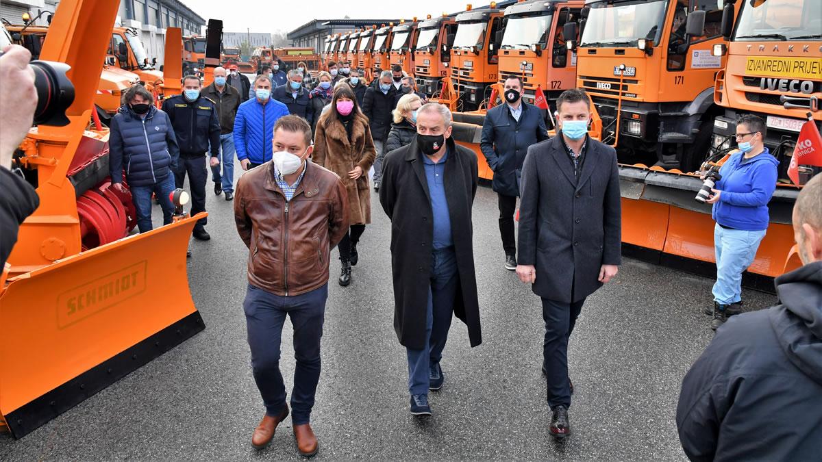 zimska služba grada zagreba 2020 - smotra vozila i opreme