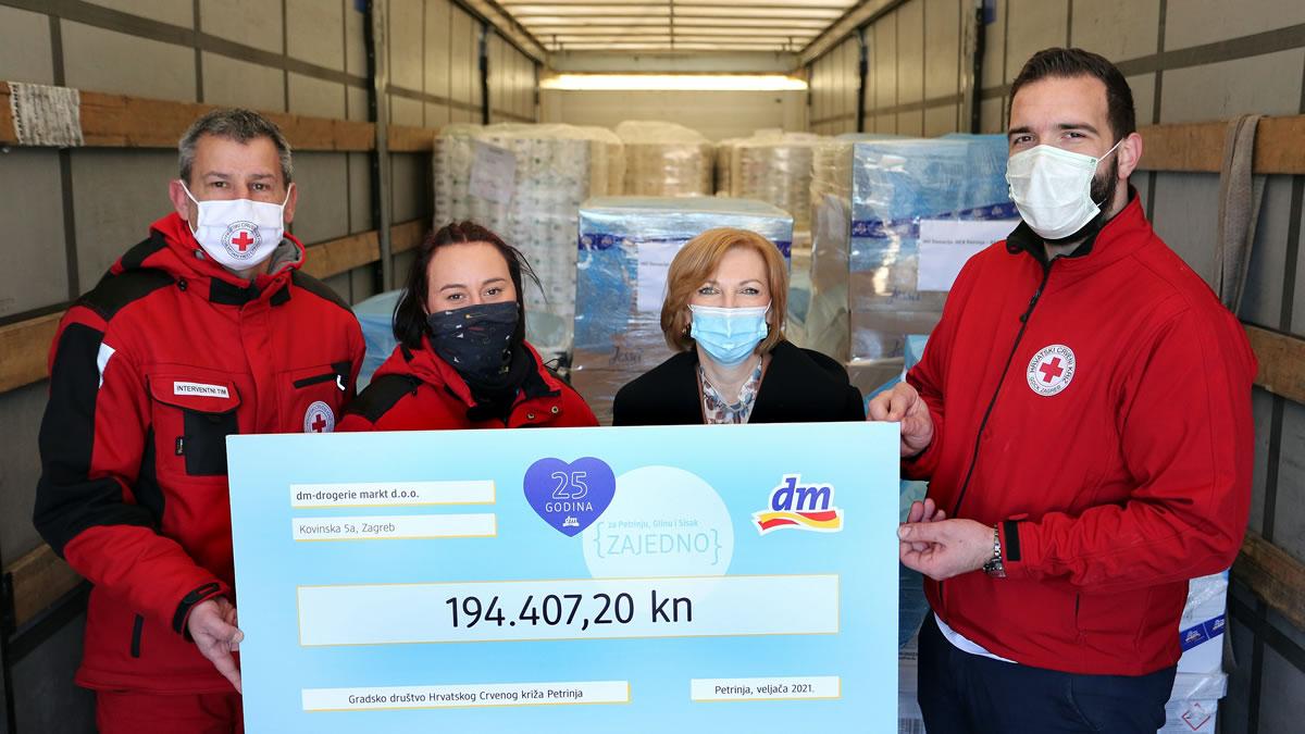 dm donacija - crveni križ petrinja - 2021.