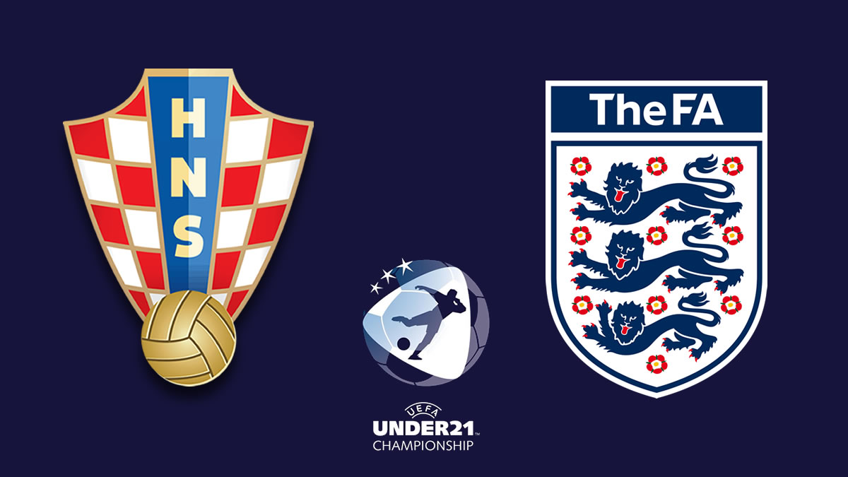 hrvatska - engleska / croatia - england / euro u21 slovenia hungary 2021