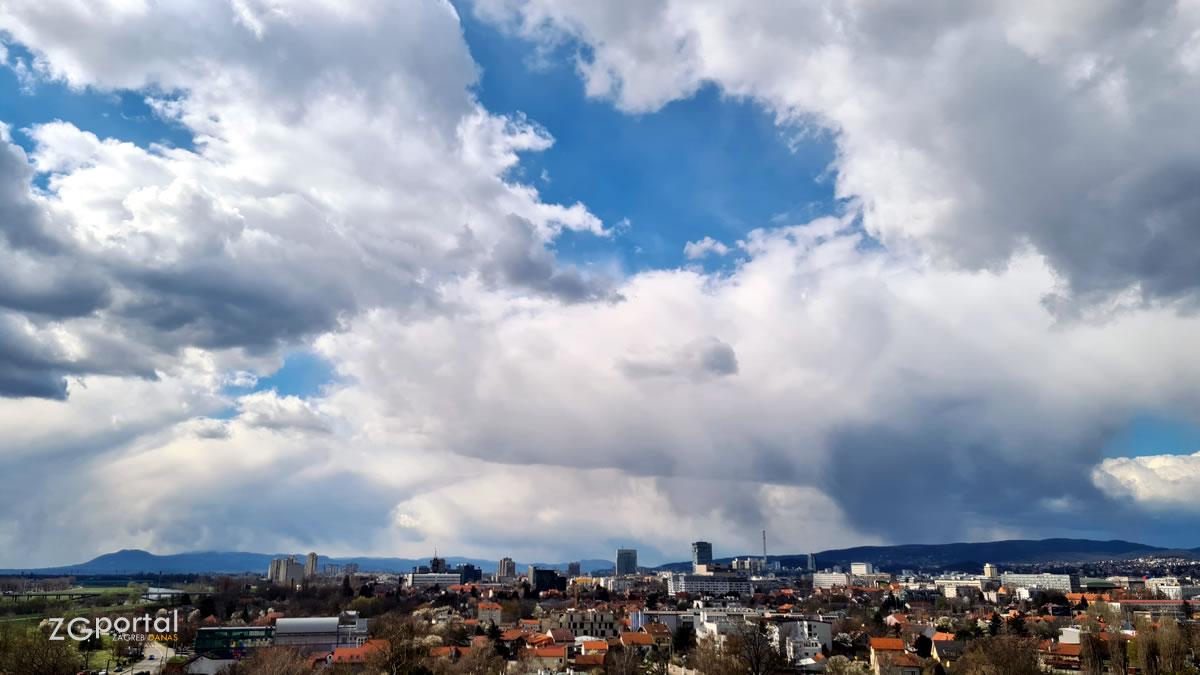 zagrebačka panorama - gradska četvrt trnje, zagreb / ožujak 2021.