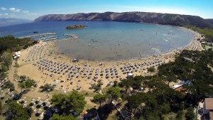 pješčana plaža - lopar, rab, hrvatska - 2020.