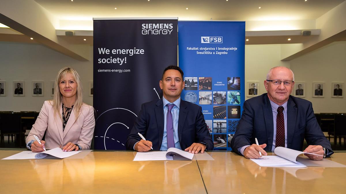 sporazum o suradnji - 2021. - fakultet strojarstva i brodogradnje zagreb i siemens energy - laura musić, boris miljavac i dubravko majetić