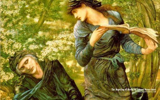 La seducción de Merlín de Edward Burne-Jones
