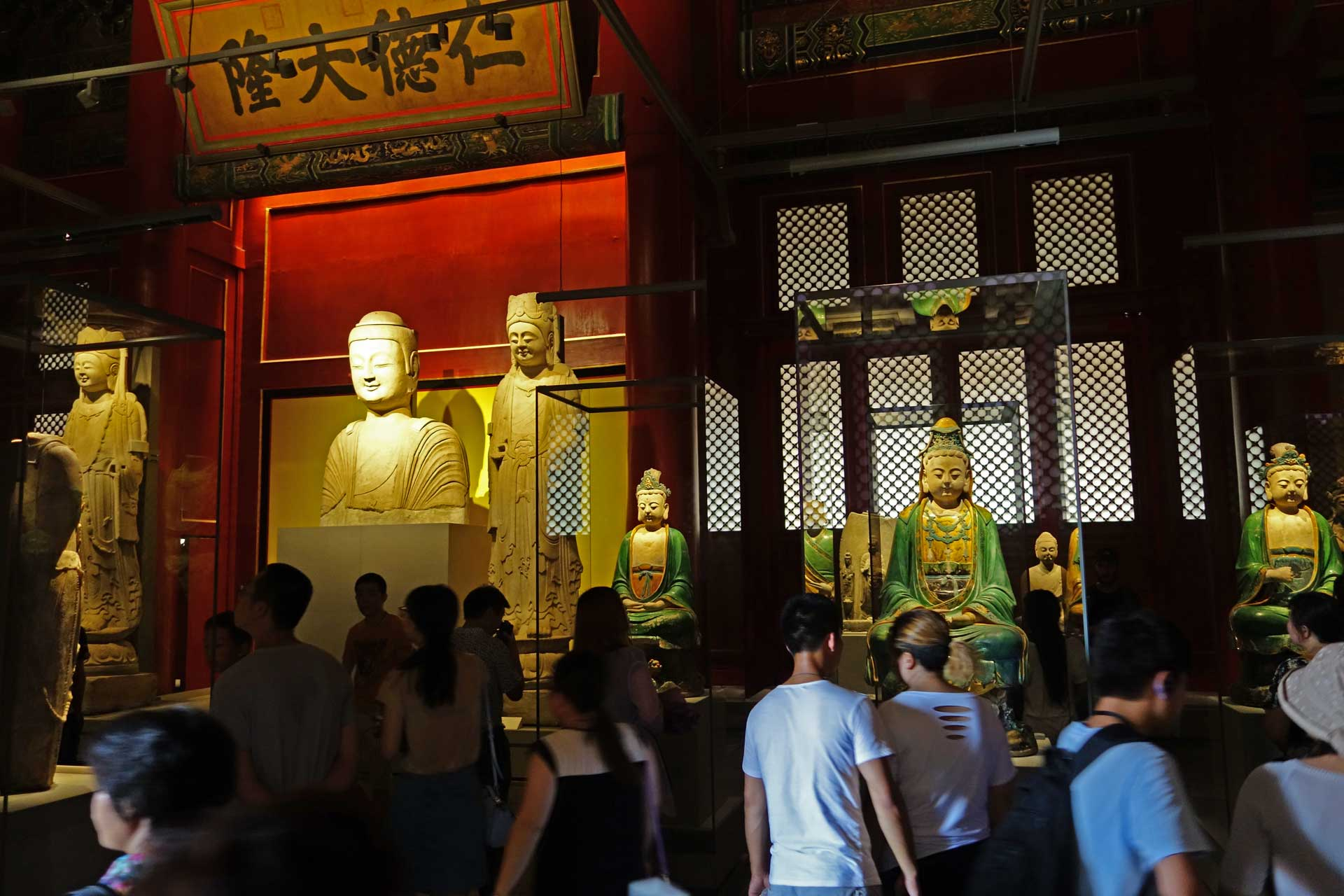 Buddhist Statues in the Forbidden City