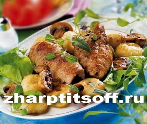 Зразы из кролика и колбасы