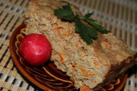 Рис с курицей в запеканке