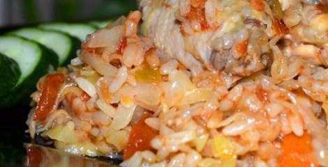 Солянка курица, рис, капуста, овощи, сок томатный. Рецепт из Одессы.