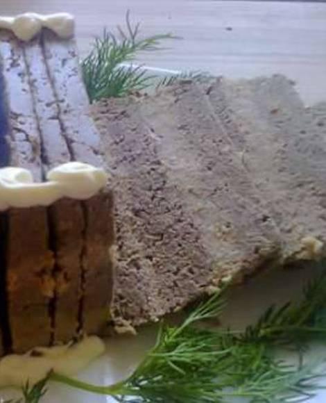 Страсбургский паштет.  Оригинальная закуска из трех видов мяса.