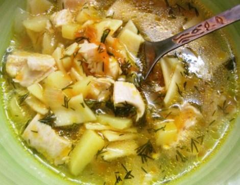 Рецепт супа с макаронами и курицей. Наваристый вкусный суп.