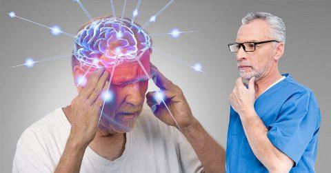 Мозг человека после прожитых лет, стареет