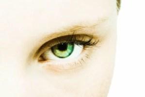 Teenage girl's eye, extreme close-up
