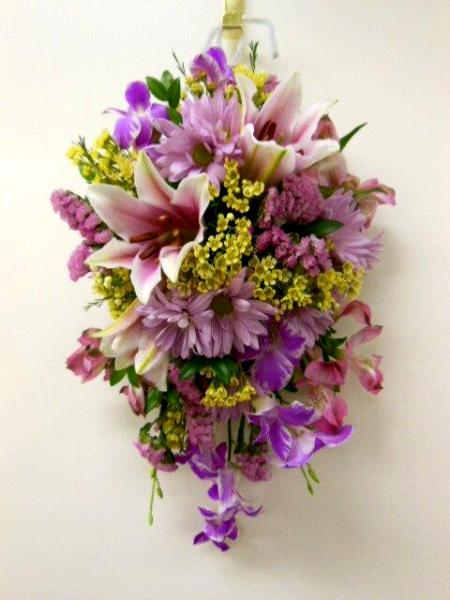 Wall mounted decor and another flower ball arrangement ... on Decorative Wall Sconces For Flowers Arrangements id=79217