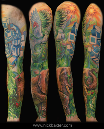 Looking for unique Nick Baxter Tattoos? Dove And Elephant