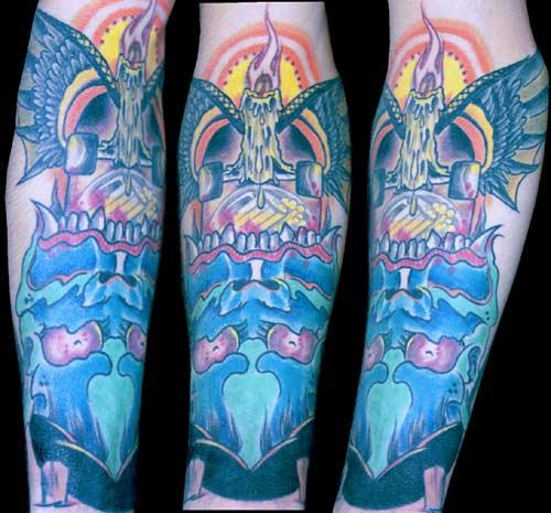 Tattoos. Tattoos Original Art. Skate or Die