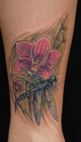 John Garancheski III - dragonfly and orchid