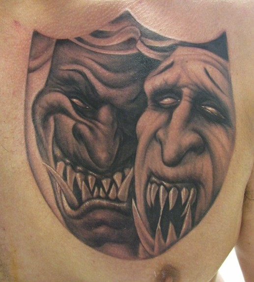 Laugh now cry later tattoo designs tattoo pictures online for Comedy and tragedy tattoo