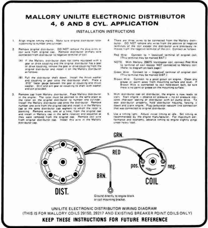 Mallory Wiring Diagram Unilite - Wiring Diagram