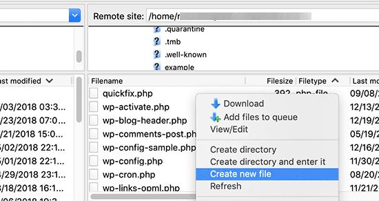使用FTP创建robots.txt文件