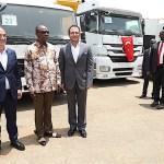 Assainissement de Conakry: Alpha Condé reçoit des camions d'une société turque
