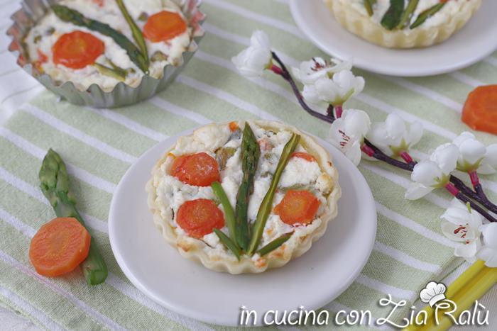 Crostate asparagi e ricotta monoporzione