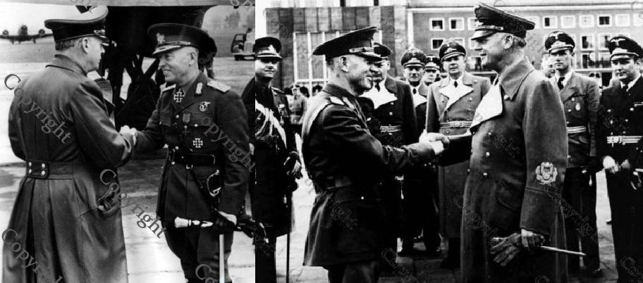 Maresalul Antonescu si Joachim von Ribbentrop - Salzburg 12-14 apr 1943