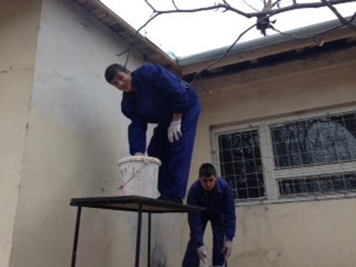 Practică pe pereţii şcolii