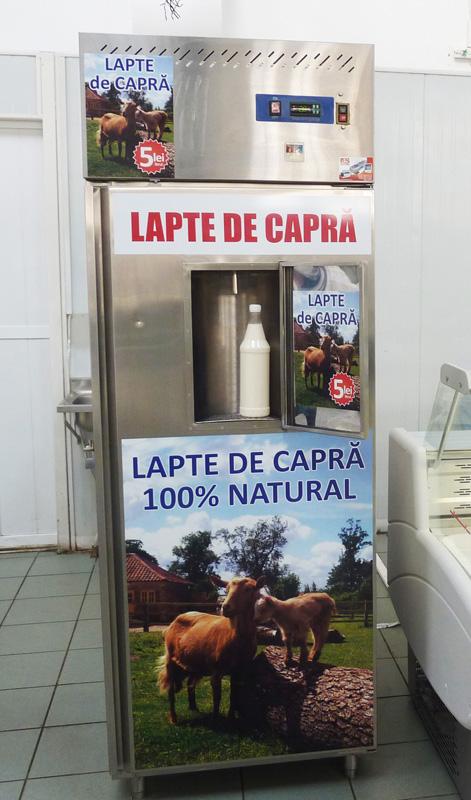 Dozator de lapte de capră la Hala Centrală