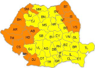 Cod portocaliu de caniculă pentru județul Neamț, marți şi miercuri