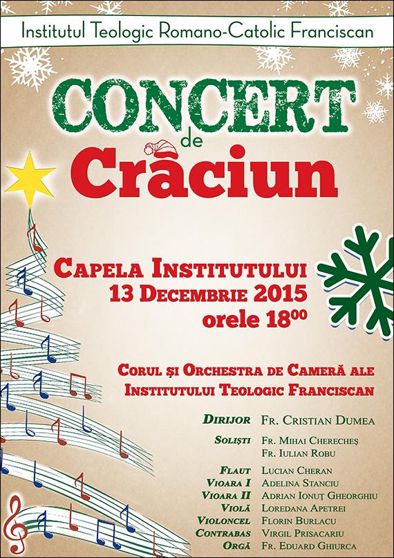Concert de Crăciun la Institutul Teologic Franciscan