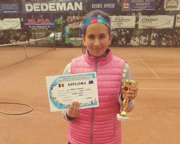 """Alexandra Fârţescu a câştigat turneul de tenis """"Trofeul Pacific"""" din Bacău"""
