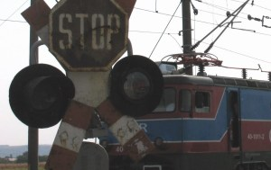 bariera cale ferata cfr tren