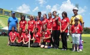 Echipa de junioare 3 a clubului Biruinţa Gherăeşti, la Campionatul Naţional din 2013