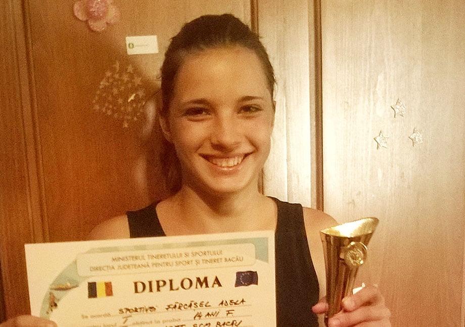 Romaşcana Adela Fărcăşel s-a impus la turneul de tenis Cupa DSJT – SCM Bacău