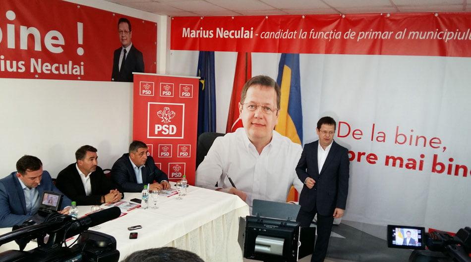 Marius Neculai, candidatul PSD pentru Primăria Roman, și-a lansat programul electoral