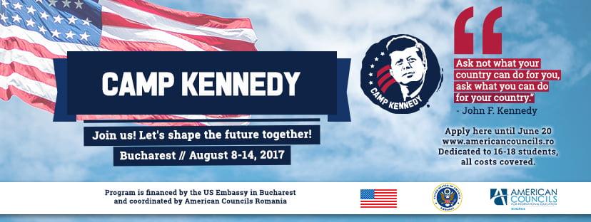 Ambasada SUA invită liceenii să candideze la programul Camp Kennedy 2017