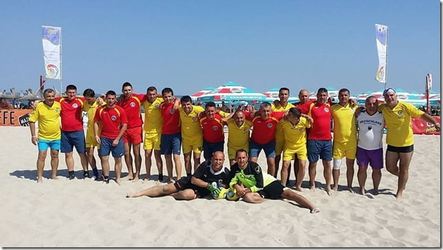 Jandarmii nemţeni participă la Cupa României la minifotbal