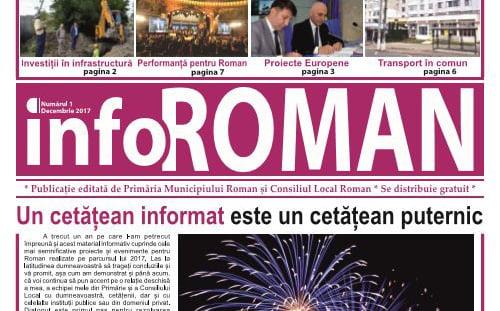 """Primăria municipiului Roman vrea să editeze ziarul """"Info Primăria Roman"""""""