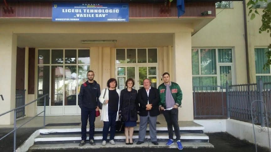 "Oaspeți din Spania la Liceul Tehnologic ""Vasile Sav"""