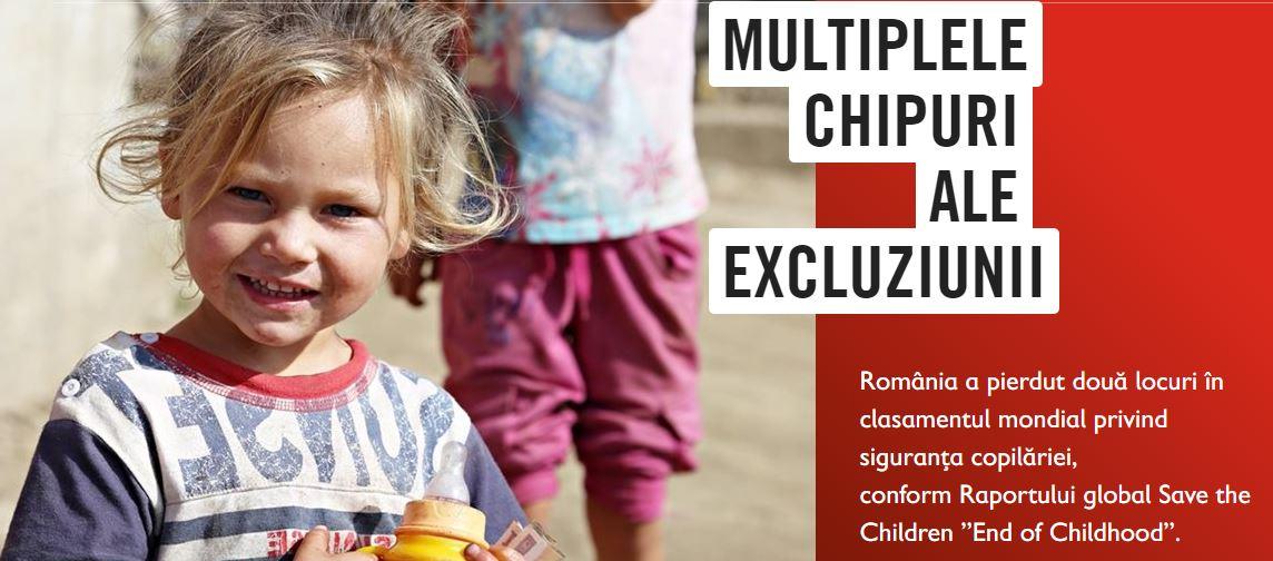 """[Infografic] Organizația Salvați Copiii: """"România a pierdut două locuri în clasamentul mondial privind siguranța copilăriei"""""""