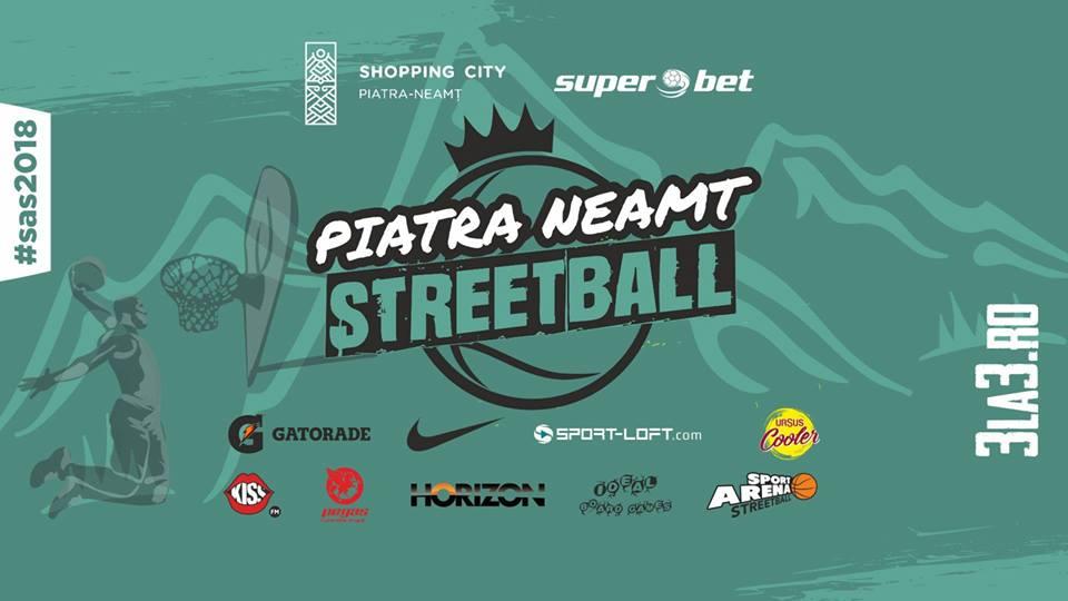 Turneul de baschet 3×3, noua disciplină olimpică, vine în weekend la Shopping City Piatra Neamț