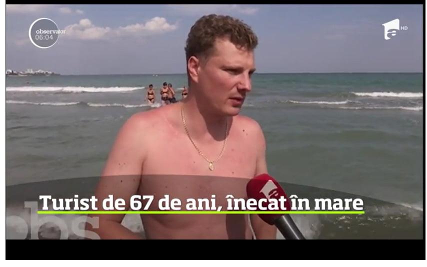 Consilierul local Dragoș Moroșanu a salvat un bărbat de la înec, pe litoral