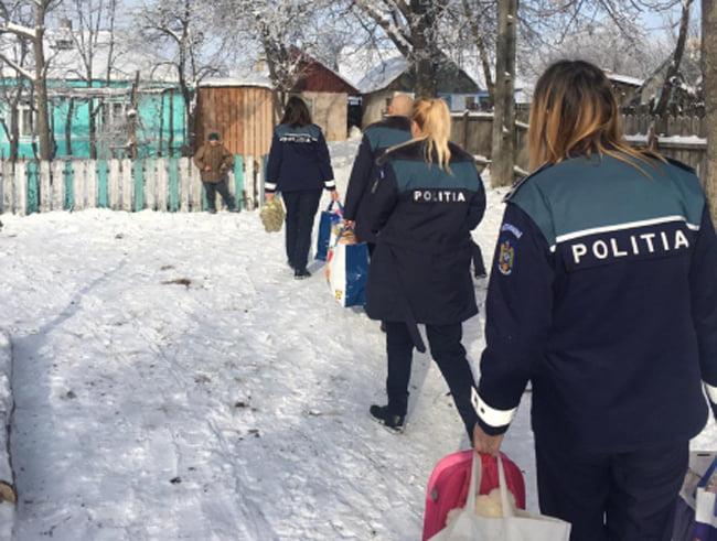 Acţiune caritabilă a polițiștilor, la Stăniţa